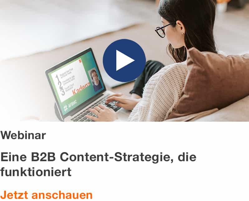 Webinar: Eine B2B Content-Strategie, die funktioniert
