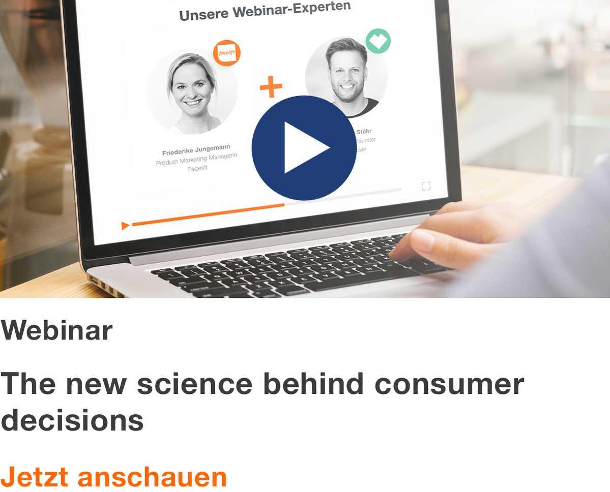Webinar: The new science behind consumer decisions DE